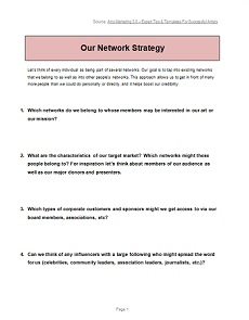 click to download our network strategy template